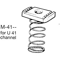 Oglaend M12 larga resorte tuerca para canales de Zinc plateado suave acero (como Unistrut) tamaño: 4