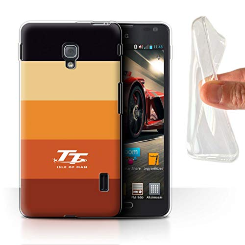 Isle of Man TT Offiziell Hülle/Gel TPU Case für LG Optimus F6 / Dämmerung Muster/Eleganz Kollektion (Case F6 Lg Handy)