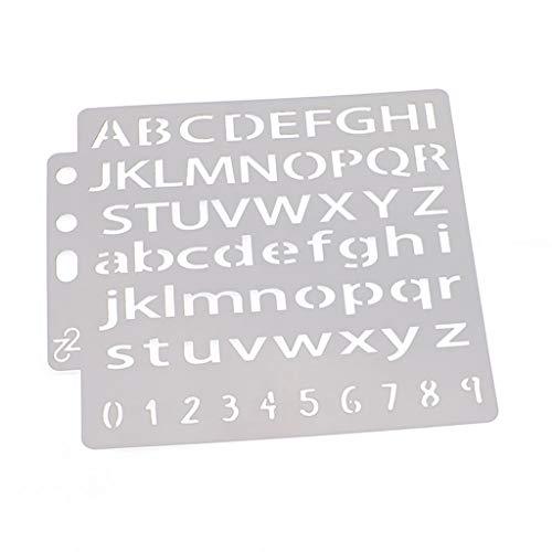 Lettere stencil modello pittura scrapbooking goffratura timbro album di