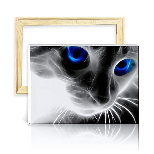 Ufengke Kit Pintura Diamantes 5D Gato Negro Punto