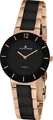 Jacques Lemans Unisex Watch with Black Dial Analogue Display Stainless Steel Quartz 41/3 °C