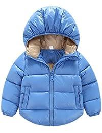 GenialES Chaqueta con Capucha Abrigos de Pluma Invierno Down Parka Puffer Coat para Bebés Niños 6 meses a 5 años