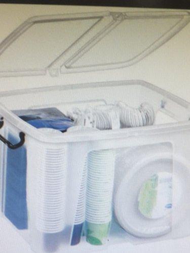 Cep Kunststoffboxen 49,8 x 39,7 x 20,2 cm (BxTxH) transparent 40 Liter Aufbewahrungsboxen