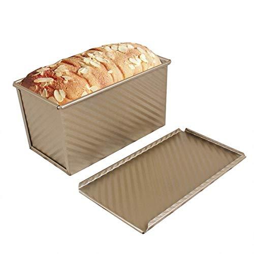 Hogaza de Pan con Tapa, Bandeja de Pan Tostado Antiadherente 450 g para el hogar