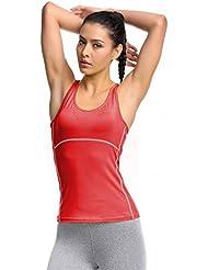 Jimmy Design - Top sin mangas de fitness para mujer
