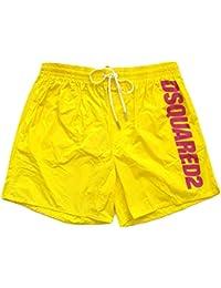 e69a8de7f8 DSQUARED Costume da Bagno Uomo Boxer Corto D7B6G2420.700 Swim Short Giallo  48