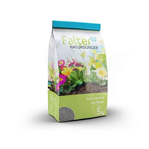 Falter Naturdünger - hochwertiger organischer Biodünger - Granulat - Bodenaktivator aus rein natürlichen Inhaltsstoffen - Nährstoffdünger, Rasendünger, Gartendünger - Qualitätsprodukt aus Bayern - 5kg