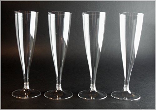 40x Sektgläser 100ml Sektkelche Einweg Sektglas / stabile Premiumqualität aus deutscher Herstellung / 2 Teilig - Exklusives Produktbundle der Marke EVENTpac (Sektgläser Einweg)
