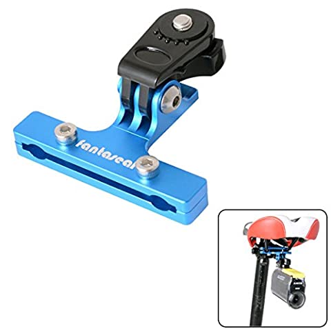 Fantaseal® Vélo Support Vélo Selle Support Bicyclette Support Bike Mount Aluminum Selle Adaptateur Vélo Mount Bicyclette Mount Bicyclette Selle Clip Bicyclette Adapter Bike Mount pour Sony Bicyclette Selle Support Sony Bicyclette Mount Bike Accessories Sony Action Caméra Bicyclette Support Sports Caméra Bike Mount pour SONY HDR AS-10 AS-15 AS-20 AS-30 AS-50 AS-100 AS-200 AZ-1 FDR X1000VR etc- Bleu
