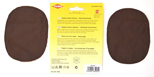 Brown Kleiber Sew-on Nappa Leather elbow and knee patches 12.5 cm x 10 cm 2 pe