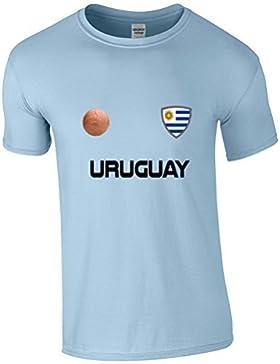 EBUK URUGUAY COPA DEL MUNDO 2018 Fútbol Retro Informales Camiseta Hombre No Oficial