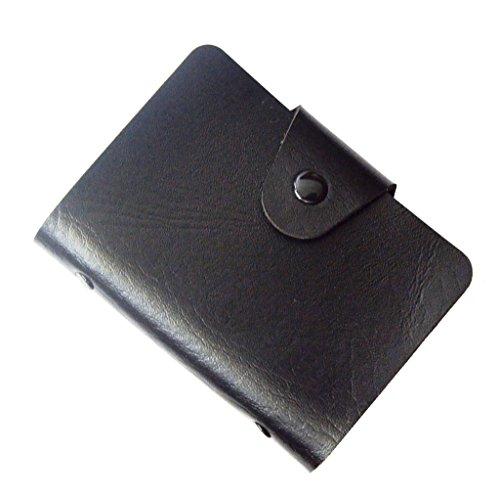 Visitenkarten-Mappe, Karten-Mappe, Kreditkarteninhaber, Kreditkartenetui bis zu 24 Karten - Schwarz