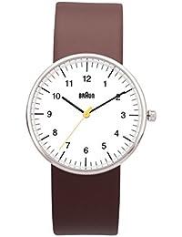 Braun Unisex-Armbanduhr BN0021WHBRG Analog Quarz Leder 66552