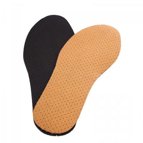 pbezler Leder Einlegesohlen Aktivkohle Schuh Einlagen Gr. 23-49 Echt Leder Größe 39 Perforierte Ledersohlen