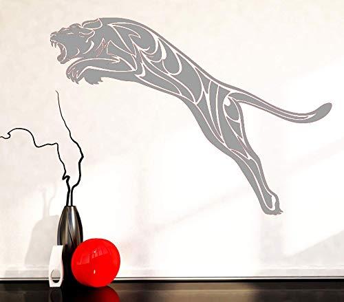 Jungen Predator Kostüm Für - guijiumai Vinyl Applique Wandaufkleber Schwarz Leopard Predator Animal Tribe, Mode Tier Wandtattoo, Home Wohnzimmer Dekoration D 4 121x85 cm