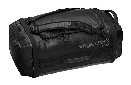 Eagle Creek Wasserabweisender Backpacker Cargo Hauler Duffel ultraleichte Reisetasche mit Rucksacktragegurten Sac de Voyage, 73 cm, 90 liters, Noir (Black)