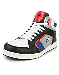Fila 11003987 ATTAVIO Sneakers casual shoes for Men (8 UK, WhiteBlack)