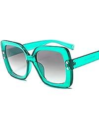 fe1eb8d576 QDE Gafas de sol Gafas De Sol Extragrandes para Mujer Gafas Graduadas  Transparentes Gafas De Sol con Marco Grande Gafas Uv400 Vintage…