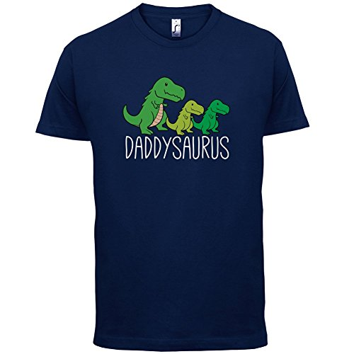 Daddy Saurus - Herren T-Shirt - 13 Farben Navy