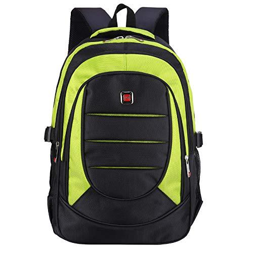 Zaino da viaggio per laptop, borsa da viaggio per laptop, zaino da uomo, 15 pollici verde