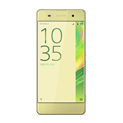 Sony 1303-0325 Xperia XA Dual-SIM Smartphone (16 GB, 12,7 cm (5 Zoll), HD Display, Android 6.0) Lime Gold