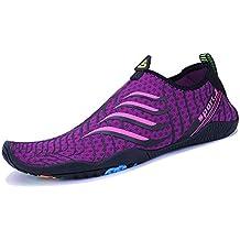 WYSBAOSHU Zapatos de Agua Deportes Escarpines para Hombre Mujer