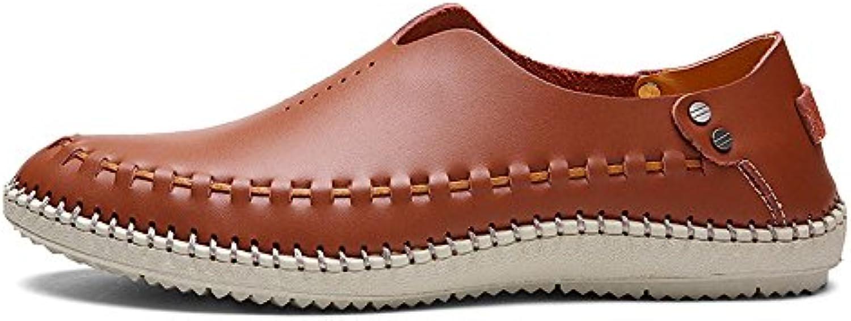 4 Walking Sandalen Herren Leder Sommer Schuhe Large Size Sandalen Leder Casual Loch Schuhe Herren Hollow Männer