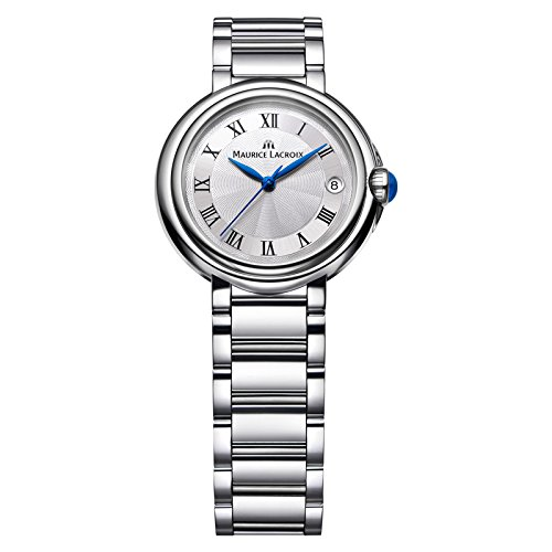 Maurice Lacroix Damen Analog Quarz Uhr mit Edelstahl Armband FA1004-SS002-110-1