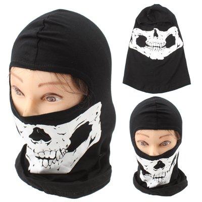Motorrad Maske / Outdoor Maske / Sturmhaube 1 Loch / Bandana / Skimaske in schwarz Evil Face / Skull / Totenkopf / Schädel / Teufel / Dämon