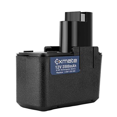 Exmate 12V 3.5Ah Ni-MH Batteria Sostitutiva per Bosch 2607335054 2607335071 2607335107 2607335145 2607335250 2607335471 BAT011 BH1214H BH1214L BH1214MH H1214N 3300K