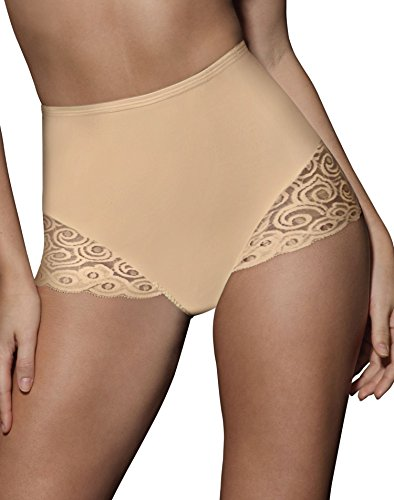 Bali Firm Control Women`s Lace Inset Brief - Best-Seller, X054, 2X, Nude -