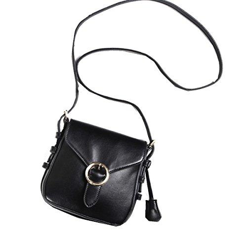 Yy.f Nuova Borsa Di Blocco Borsa Tracolla Borsa Messenger Casual Mini Bag. Nero Grigio Black