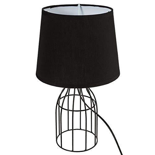 Decoratie Lampe à Poser Filaire Cylindre Noir
