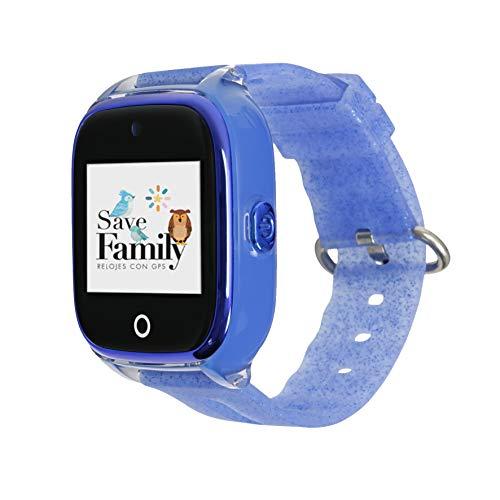 Reloj con GPS para niños Save Family Modelo Superior Acuático con Cámara. Smartwatch con botón SOS, Permite Llamadas y Mensajes. Resistente al Agua Ip67