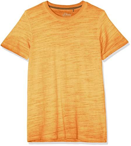 Gelb L/s Shirt (s.Oliver Herren 03.899.32.4584 T-Shirt, Gelb (Yellow Friend 1425), Large (Herstellergröße: L))