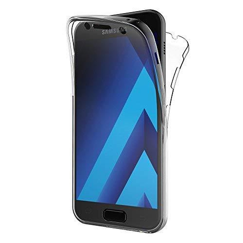 Samsung Galaxy A5 2017 Hülle, AICEK 360° Full Body Transparent Silikon Schutzhülle für Samsung A5 2017 Case Crystal Clear Durchsichtige TPU Bumper Galaxy A5 2017 Handyhülle (SM-A520F 5,2 Zoll)