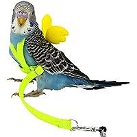 Meetforyou Uccello Imbracatura e guinzaglio Cockatoo Imbracatura di Sicurezza Regolabile in Nylon Anti-Bite Training Hraness Fuori Passeggiata per Grande Uccello Pappagallo Ara Colore Casuale