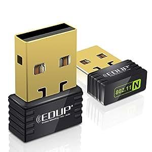 Adaptateur USB WiFi N 150Mb Nano Mini Wireless WiFi Ralink RT5370 Micro Chip 150 Mbps - EDUP EP-N8531 Mini Wireless Wi -Fi Nano récepteur Pour Internet