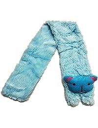 Khurana Decorative™ Blue Kids Scarf Stole Muffler Soft FURR for Girls | Look Like Princess/Barbie