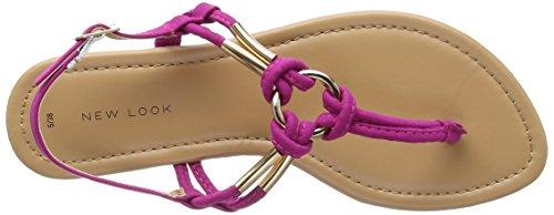 New Look - Post, Strap alla caviglia Donna Pink (Bright Pink)