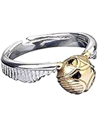 Anillo de snitch dorado de acero inoxidable oficial de Harry Potter