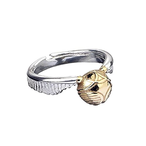 Harry Potter Goldener Schnatz Ring silberfarben M