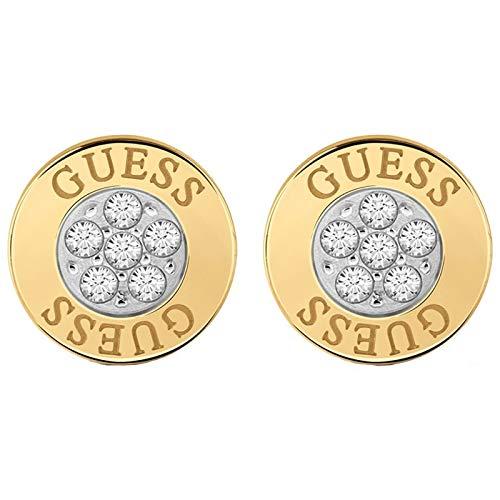 Guess Damen-Ohrstecker Edelstahl Kristall One Size Gold 32003481