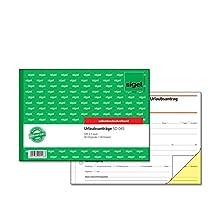 Sigel SD045 Holiday Application A5 Landscape, 2x40 Blatt, selbstdurchschreibend, Pack of 1