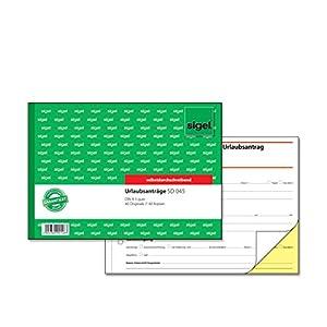SIGEL SD045 Urlaubsantrag A5 quer, 2x40 Blatt, selbstdurchschreibend, 1 Stück