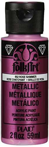 Used, FolkArt Metallic Acrylic Paint in Assorted Colors (2 for sale  Delivered anywhere in UK