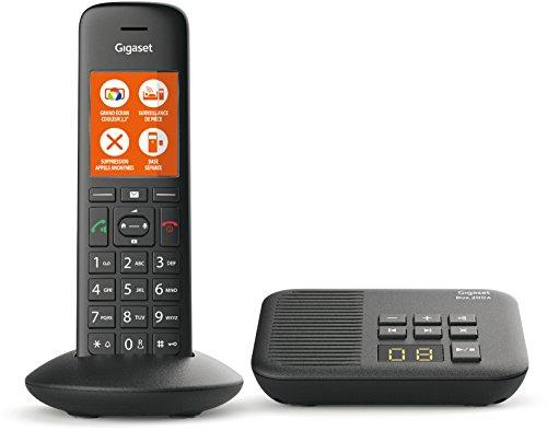 Gigaset C570A Solo - Teléfono (Teléfono DECT, Terminal inalámbrico, Altavoz, 200 entradas, Identificador de Llamadas, Negro)