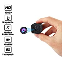 Hidden Camera Mini Spy Cameras HD 1080P 140 Degree Wide Angle Portable Security Nanny Cam with Motion Detection Video Camera Night Vision (Supports 128G SD Cards)