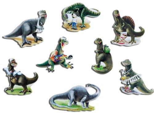 (Kühlschrankmagnete Kinder Dino Magnete für Magnettafel stark 8er Set Tiere lustig mit Motiv Comic Dinosaurier)