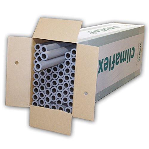 NMC 3008396 48m Rohrisolierung 28 mm x 20 mm 100cm 1m PE Schaum Isolierung Rohrisolation Dämmung Heizungsrohre Heizung